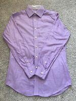 Jhane Barnes Mens Long Sleeve Purple/Lilac/Lavender Dress Shirt Size 15 32/33