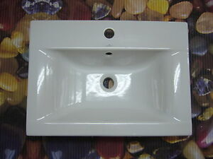 Einbau Waschtisch Einbauwaschtisch Waschbecken 60 x 44 cm weiss NEU