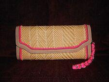 """Melie Bianco Clutch or Shoulder  Pink & Tan Handbag 5"""""""