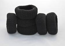 4 Negro Grueso Cabello Bandas Elástico Cola de Caballo Pelo Nuevo Accesorios De Moda Por Nill