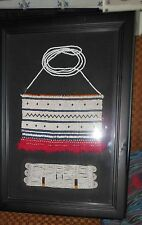 20C Xhosa/ Thembu Beaded Inkciyo Apron glass beads+ wristband in picture frame