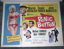 PANIC BUTTON orig 22x28 rolled movie poster Sexy JAYNE MANSFIELD/ELEANOR PARKER