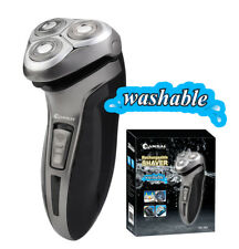 Triple heads Washable & Rechargeable Shaver, Double track,Pop-up trimmer