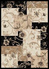 """BLACK VINES ORIENTAL AREA RUG 4X6 PERSIAN CARPET 025 - ACTUAL 3' 7"""" x 5' 2"""""""