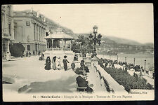 1906 Monte Carlo Monaco RPPC Cover Postcard to Germany Music Kiosk View