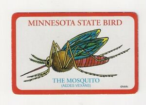 "deck souvenir playing cards from Minnesota, State Bird ""The Mosquito"""
