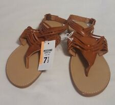 New Women's Mossimo Brown Johanna Cognac Thong Sandals Open Toe Shoes Size 7.5