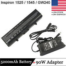 NEW BATTERY+ ADAPTER CHARGER for DELL Inspiron 1525 1526 1545 1546 1750 312-0625
