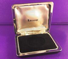 Vintage Lucerne Watch Case Black & High Shine Chrome 107mm x 90mm x 34mm