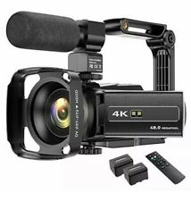 4K Video Camera Camcorder 48MP UHD WiFi IR Night Vision YouTube Vlogging...