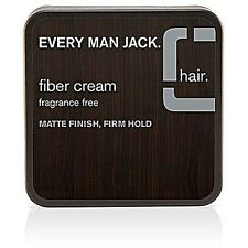 Every Man Jack Fiber Cream Matte Finish Firm Hold 2.65 oz (Pack of 3)