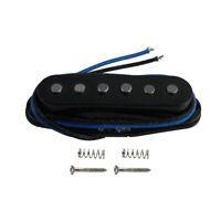 FLEOR Black Alnico 5 Single Coil Bridge Pickup Staggered Poles for Strat Guitar