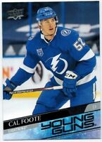 Upper Deck 2020/21 Series 2: Young Guns Cards of Cal Foote # 476