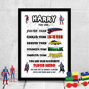 Personalised Birthday gift for child son brother boy Birthday A4 gloss print