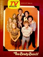 TV Guide 1977 The Brady Bunch Florence Henderson Robert Reed Regional NM/MT COA