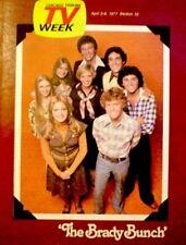 TV Guide 1977 The Brady Bunch Florence Henderson Robert Reed Regional NM/MT COA