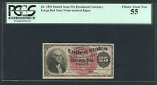 """New listing U.S. 1869-75 25 Cents Fractional Currency Fr-1301 Certified Pcgs """"About New-55"""""""