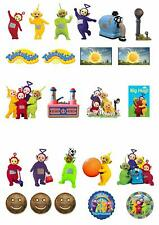 24 Stand Up Teletubbies Premium Edible Wafer Paper Cake Toppers Decorations