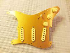 Lindy Fralin Loaded Strat Pickguard Split Blade High Output Cream on GoldAnodize