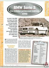 BMW 316i Serie 3 Coupé Berline 4 Cyl. 1990 Germany Car Auto Voiture FICHE FRANCE