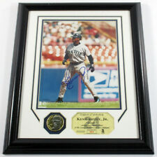 Ken Griffey Signed Photo Display Coin Junior Highland Mint Framed Auto DF025684
