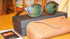 New Authentic Ray Ban GATSBY Tortoise Gold/Blue Mirror RB4257 609255 50-19
