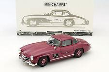 MINICHAMPS 1954 Mercedes Benz 300 SL W198 Dark Red Metallic 1:18 LE 336pcs *New!