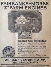 "1920 AD(XF1)~FAIRBANKS, MORSE & CO. CHICAGO. ""Z"" FARM ENGINE W/BOSCH MAGNETO"