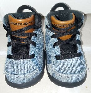 Baby Nike Air Jordan 6 Retro Washed Denim Shoes Size: 4C