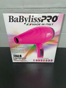 BaByliss PRO Italo Luminoso Professional Hair Dryer - Pink - 2000 Watts