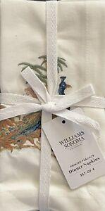 Williams-Sonoma Pavao Embroidered Napkins Set/4