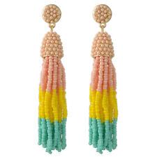 Boucles d'Oreilles Doré Tassel Pompon Mini Perle Multicolore Rose Jaune AA22