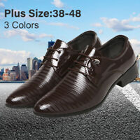 Men Leather Oxford Shoes Dress Formal Pointed Wedding Casual Business Shoes 6-11