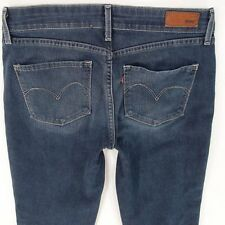 Ladies Womens Levis DEMI CURVE SLIM Stretch Blue Jeans W28 L30 UK Size 8