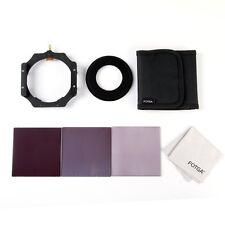 Fotga 4x4 100mm Square Filter Full ND 2 4 8 + Holder + 55mm Adapter Ring + Case