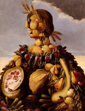 Huge Oil Giuseppe Arcimboldo - The Seasons Pic Fruits and vegetables in autumn