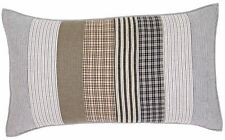 Ashmont Gray and White Reverse Seam Hand Quilted Patchwork King Size Pillow Sham
