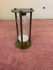"Vintage 4"" Brass Hour Glass Sand Timer"