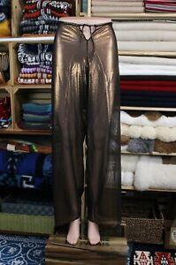 Sexy Sheer Mesh Pants, Phantasy, Beach Cover Up, Clubs to XL Waist Bronze