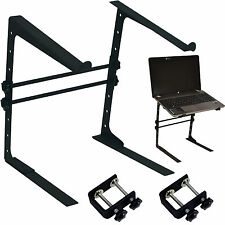 DJ/PA Compact Laptop Platform-Adjustable Table Top Bracket-Mixer Mac Air Stand