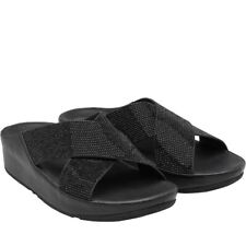 New Size 7 Ladies Women's FitFlop Crystall Slides Slip-ons Summer Sandals G Y