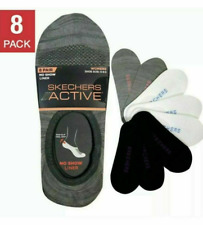 New listing Skechers Active Women 8 pair No Show Shoe Liner Socks, Multicolor,  Size 5 - 9.5