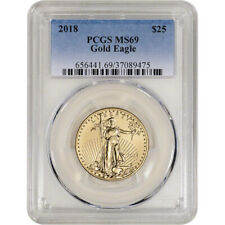 2018 American Gold Eagle 1/2 oz $25 - Pcgs Ms69