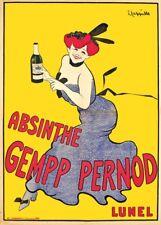 ABSINTHE PERNOD, 1910, Leonetto Cappiello, 250gsm BELLE EPOQUE Affiche A3