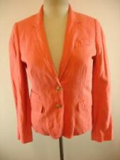 Womens 8 J. Crew Schoolboy 37852 Coral Pink Jacket Blazer Sport Suit Coat Button