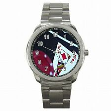 BlackJack Las Vegas 21 Card Game Lucky Gambling Stainless Steel Watch