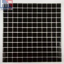 mosaico in vetro nero PIETRA PIASTRELLE per il bagno, cucina, Piscina