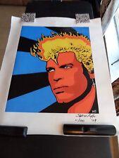 Billy Idol Portrait -Original Painting signed by Stephen Baffa Acrylic/Canvas#11
