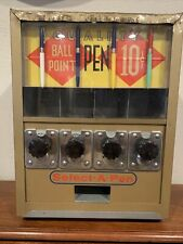 Select-A-Pen Vending Machine 10 Cent Coin Op Vintage
