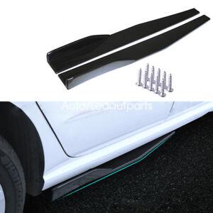 Car Side Skirt Modified Universal Blade Side Skirt Front Bumper Lip Spoiler